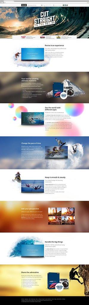 site design for MAGIX Video Pro X